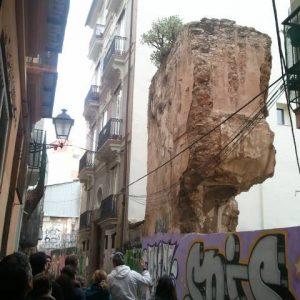 Muralla islámica. Ruta Camins Antics. Descubre la Valencia romana y musulmana. CaminArt